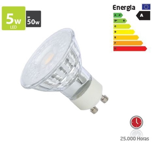 Picture of GU10 Lâmpada LED 5W Glass